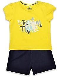 niña Dream Time Mariposa Camiseta Culotte pijama amarillo tallas desde 12 Meses Hasta 6 años
