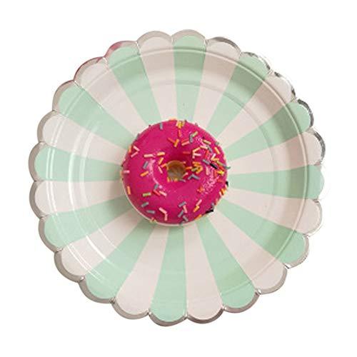 LEACK 817,8cm/22,9cm Papier Party Platten Langlebig starr, Teller für Geburtstag, Party, Hochzeit, Mint Green-1, 9inch