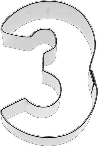 Birkmann Ausstechform Zahl 3, 6 cm, Edelstahl