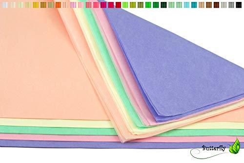 Creativery Seidenpapier - Tissue Papier 50 x 75cm 10 Bögen Gestalten Dekorieren Vepacken bunt Farbe Mix Pastell Mischung