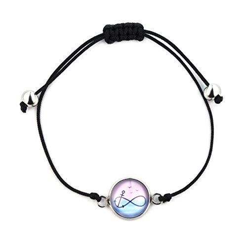 SCHMUCKZUCKER Armband für Damen Motiv - Unendlichkeit Anker - silber-farben Edelstahl - kreiert in Deutschland