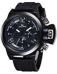 Luminosa Dos Diales Decorativos Reloj De Pulsera El Reloj Del Deporte Para Los Hombres