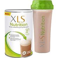 XLS Nutrition Chocolate + Shaker - Batido sustitutivo de comidas para perder peso - Ingredientes de origen natural - contiene todas las vitaminas del grupo B - Sin gluten - 400 g
