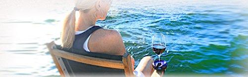Outdoor Weinglashalter von Bella D'Vine – 3 Befestigungen inklusive: der Graspfahl für...