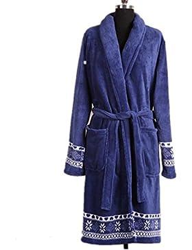 DMMSS Ladies notte abito lungo accappatoio pigiama di flanella