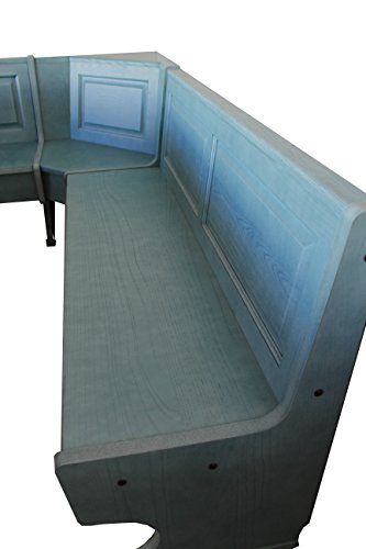 eckbaenke rustikal Country Style Eckbank Typ Rustikal aus Holz hellblau