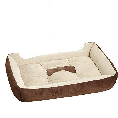 Big Große Hunde Sofa Bett Haus Kennel waschbar Winter Warm Fleece Golden Retriever Pitbull Pet Hund Katze Bett Matte Kissen (Golden Fleece Retriever)
