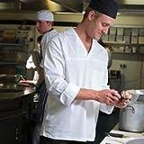 "Camisa de cocinero Denny's 100% algodón manga larga ligera - L pecho 44-44"""