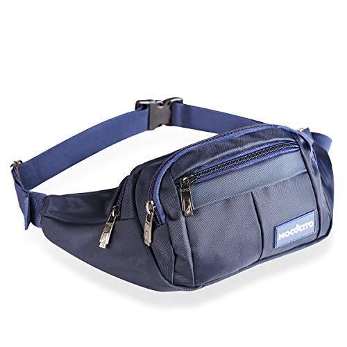 MOCOCITO Wander-Hüfttaschen Bauchtasche Multifunktionale Hüfttasche für Reise Wanderung und Alle Outdoor-aktivitäten für Damen und Herren Blau