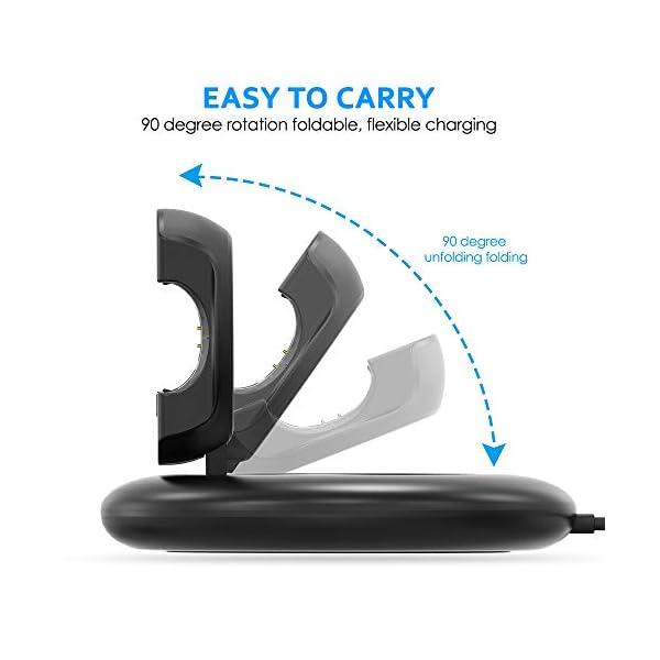 KIMILAR Cargador Compatible con Fitbit Charge 3 Cable, Base de Carga USB Repuesto Cargador para Charge 3 & Special… 4