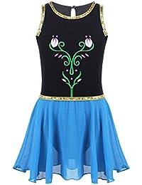 ranrann Fille Enfant Deguisement Princesse Robe Danse Ballet Classique  Justaucorps Gymnastique Leotard avec Jupette Danse Patinage 647867d7ac2