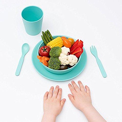 Bobo und Boo Bambus 5Stück Kinder Dinner Set–verschiedene Farben mintgrün