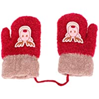 FENICAL 1 Pair Christmas Warm Gloves Winter Warm Mittens for Kids Girls (Suitable for 2-5 Years Old Girls)