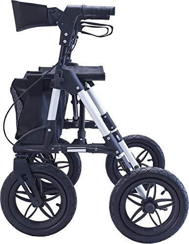 Antar AT51031 Aluminium Outdoor Rollator mit Luftbereifung für Wald-und Feldwege
