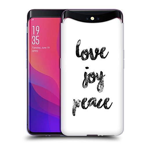 Head Case Designs Offizielle KookiePixel Love Joy Peace Typographie Soft Gel Huelle kompatibel mit Oppo Find X
