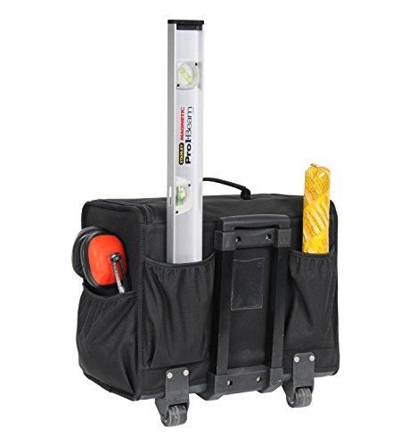 Stanley Werkzeugkoffer / Werkzeugtasche mit Rollen, (44.5x25.5x42cm, wasserfester Kunststoffboden, Trolley aus strapazierfähigem und robustem 600x600 Denier Nylon, viele Verstaumöglichkeiten) 1-97-515 - 4