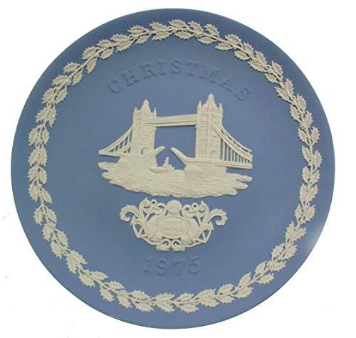 Wedgwood Jasper Ware Weihnachten 1975Teller-Tower Bridge-cp6-cd Wedgewood Blue Jasper