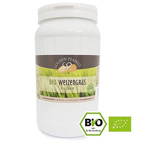 Bio Weizengras Pulver 500 g Dose, in Deutschland geprüfte Qualität, DE-ÖKO-003