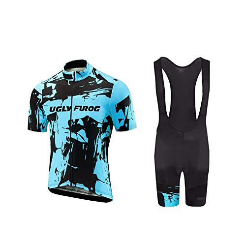 Merino Radtrikot Kurz (Uglyfrog 2018-2019 Neuen Männer MTB Rennrad Kurzarm Fahrrad Breathable Sommer Herren Fahrradtrikot Outdoor Sports Wear Triathon Rikots & Shirts+Bib Kurze Hosen Sets)