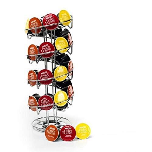 Soporte para cápsulas de café con 40 cápsulas en espiral para dispensador de torre Dolce Gusto