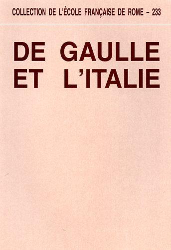 De Gaulle et l'Italie