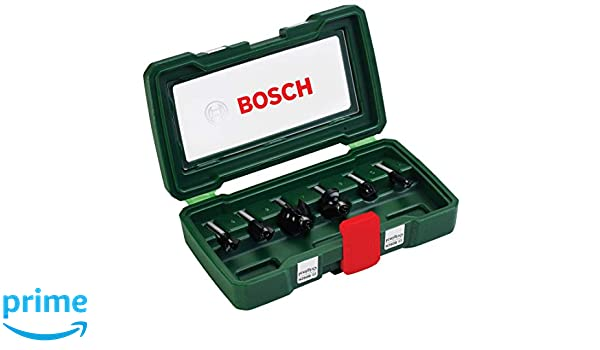 Bosch 2607019463 Routing Drill Bit Set of Cemented Carbide 8mm 6 Pcs