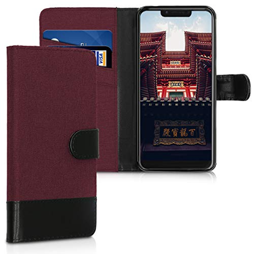 kwmobile Wiko View 2 Go Hülle - Kunstleder Wallet Case für Wiko View 2 Go mit Kartenfächern & Stand