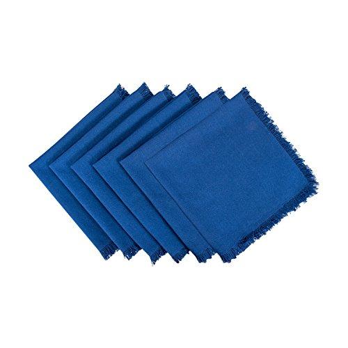 Baumwolle Geschirrtücher mit dekorativen Fransen, saugfähige Geschirrtücher zum Trocknen und Reinigen von Küchengeschirr oder Arbeitsplatten Serviette Napkin Solid Navy ()