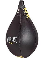 Everlast Leather - Pera de boxeo, color negro, talla L