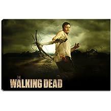 Daryl, diseño The Walking Dead sobre lienzo en formato: 120x 80cm. de alta calidad de impresión como cuadro. Más barato que un cuadro al óleo. Atención no es Póster o Cartel.