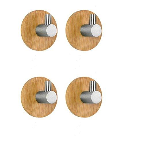 Bestomz ganci portasciugamani bagno cucina ganci appendiabiti gancio da parete adesivo 4 pezzi
