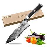 Sunnecko Profi Küchenmesser Kochmesser 16,5cm - Elite Serie Japanische Qualität Damastmesser 6,5inch