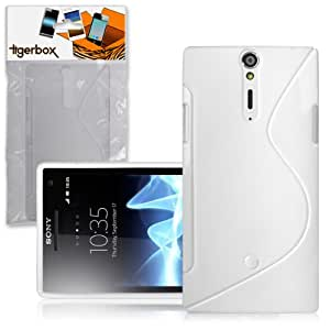CNL GEL SLIM COVER CASE SKIN FOR THE SONY XPERIA S MOBILE PHONE (White S-Line)