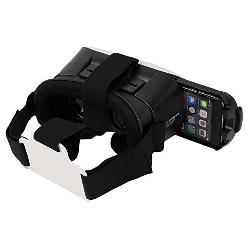 ednet VR-Brille - Virtual Reality 3D Brille für 4,7-6 Zoll Smartphone (iPhone 6, Samsung Galaxy, Xperia), Cardboard Glass