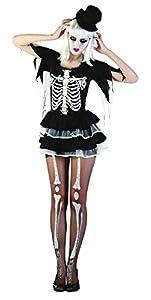 Bristol Novelty AC353 Traje Mujer esqueleto