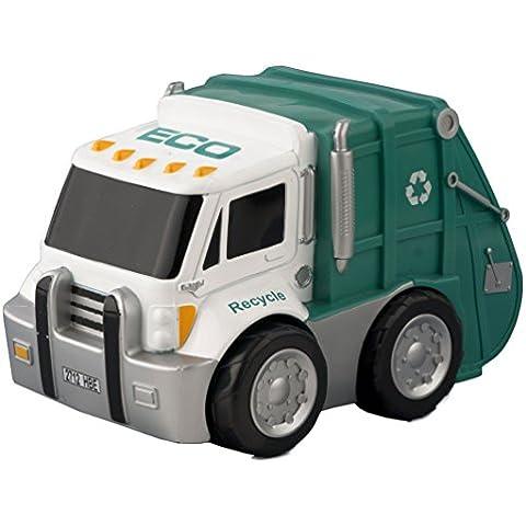 Kid Racers - Camión Reciclaje, color verde y blanco (Ninco NT10007)