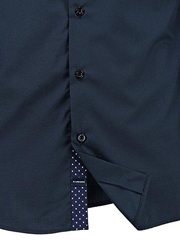 Herren-Hemd – Slim Fit – Bügelleicht – Für Business Freizeit Hochzeit – BARBONS Navyblau