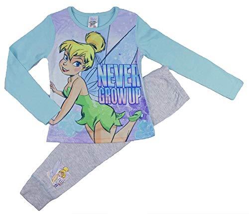 Tinkerbell Mädchen Pyjamas (Mädchen Disney Princess Ariel Kleine Meerjungfrau Pyjama Pyjama Pyjama Nachtwäsche Nachtwäsche - Tinkerbell, 134-140)