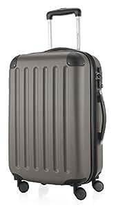HAUPTSTADTKOFFER - Spree - Handgepäck Hartschalen-Koffer Trolley Rollkoffer Reisekoffer, TSA, 55 cm, 49 Liter, Graphit