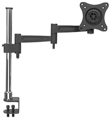Manhattan 423786 Tischhalterung mit Monitorarm für ein Display LCD ( zweifach schwenkbar ) schwarz -