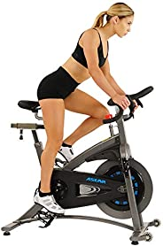 Sunny Health & Fitness Unisex Adult 5100 Asuna Magnetic Belt Drive Commercial Indoor Cycling Bike - Black/