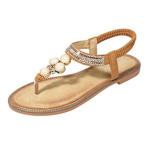 LuckyGirls Chic Sandalias Mujer Verano 2020 Fiesta Planas Zapatos Mujer Elegantes Casual Sandalias Mujer...