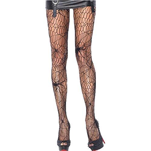 JYOHEY Netzstrumpfhose Schwarz Spinne Strümpfe Spitze Strumpfhosen Halloween Kostüm Damen Sexy Net Strümpfe Halloween Fishnet Tights