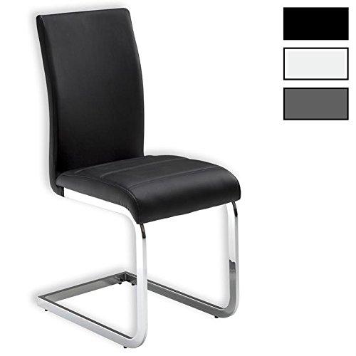 IDIMEX Stuhl Schwingstuhl Esszimmerstuhl Sitzgelegenheit Leticia, weiß, im 4er Pack