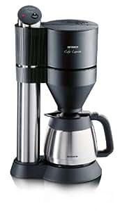"""Severin KA 5740 Kaffeeautomat """"Café Caprice"""" mit Edelstahl-Thermokanne, schwarz / bis 8 Tassen / 1400 W"""