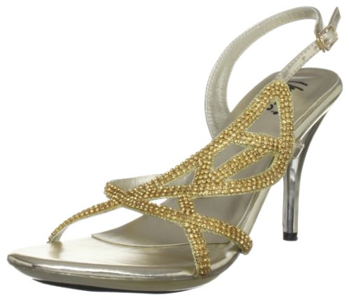 Unze Evening Sandals, Damen Sandalen Gold (L18235W)