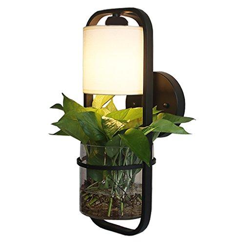 Einfache Wasser-Kultur-Betriebswand-Lampe, Metallwand-Licht mit Glasbehälter, moderne kreative DIY Topfpflanze-grünes Fisch-Behälter-dekoratives, Restaurant-Badezimmer-Luft-Wand-Licht
