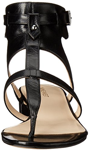 Nine West Justnice Kleid aus Leder Sandale Black