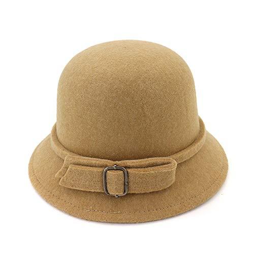 LINSID Bekleidung-Winter Herbst Frauen Männer Damen Jazz Hut European American Round Caps Bowler Einfarbig Hüte - Katze Im Kamel Kostüm