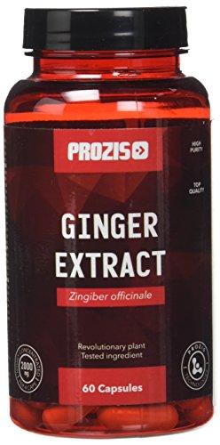Prozis Ginger Extract 1000mg 60 Caps - Complemento para Ayudar el Sistema Digestivo y Gastrointestinal - 30 Dosis